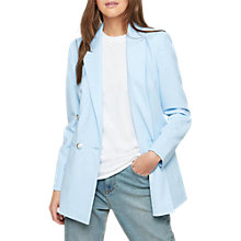 Buy Miss Selfridge Double Breasted Military Long Blazer, Blue Online at johnlewis.com