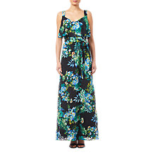 Buy Adrianna Papell Printed Burn Out Maxi Dress, Black/Multi Online at johnlewis.com