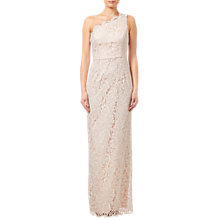Buy Adrianna Papell One Shoulder Lace Column Dress, Blush Online at johnlewis.com