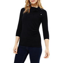 Buy Phase Eight Shaniya Split Neck Jumper, Navy Online at johnlewis.com