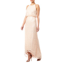Buy Adrianna Papell Sequin Blouson Dress, Blush Online at johnlewis.com