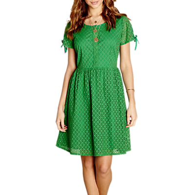 Yumi Broidery Lace Dress, Green