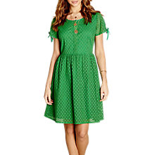 Buy Yumi Broidery Lace Dress, Green Online at johnlewis.com