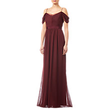 Buy Adrianna Papell Tulle Draped Gown, Deep Wine Online at johnlewis.com