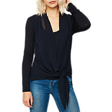 Buy Mint Velvet Wrap Front Top, Dark Blue Online at johnlewis.com