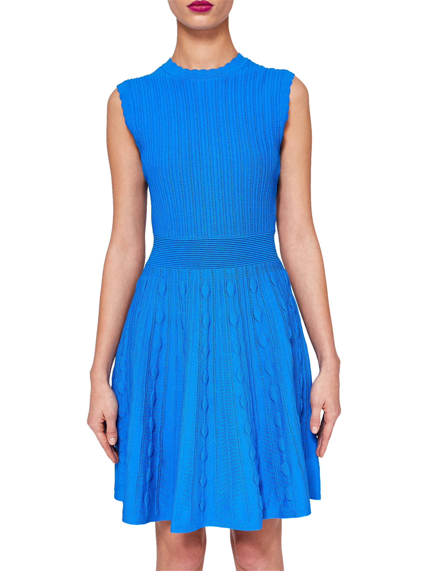 9abed9e10 Ted Baker Kamylia Scallop Edge Knitted Skater Dress