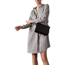 Buy Reiss Maribel Oversized Satin Shirt Dress, Grey Online at johnlewis.com