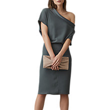 Buy Reiss Camilla Batwing Sleeve Dress, Khaki Online at johnlewis.com