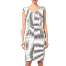 Buy Adrianna Papell Striped Ottoman Sheath Dress, Ivory/Black Online at johnlewis.com