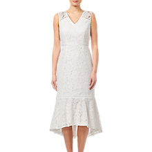 Buy Adrianna Papell Cynthia Lace Midi Length Dress, Ivory Online at johnlewis.com