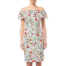 Buy Adrianna Papell Bloom Printed Dress, Ivory/Multi Online at johnlewis.com
