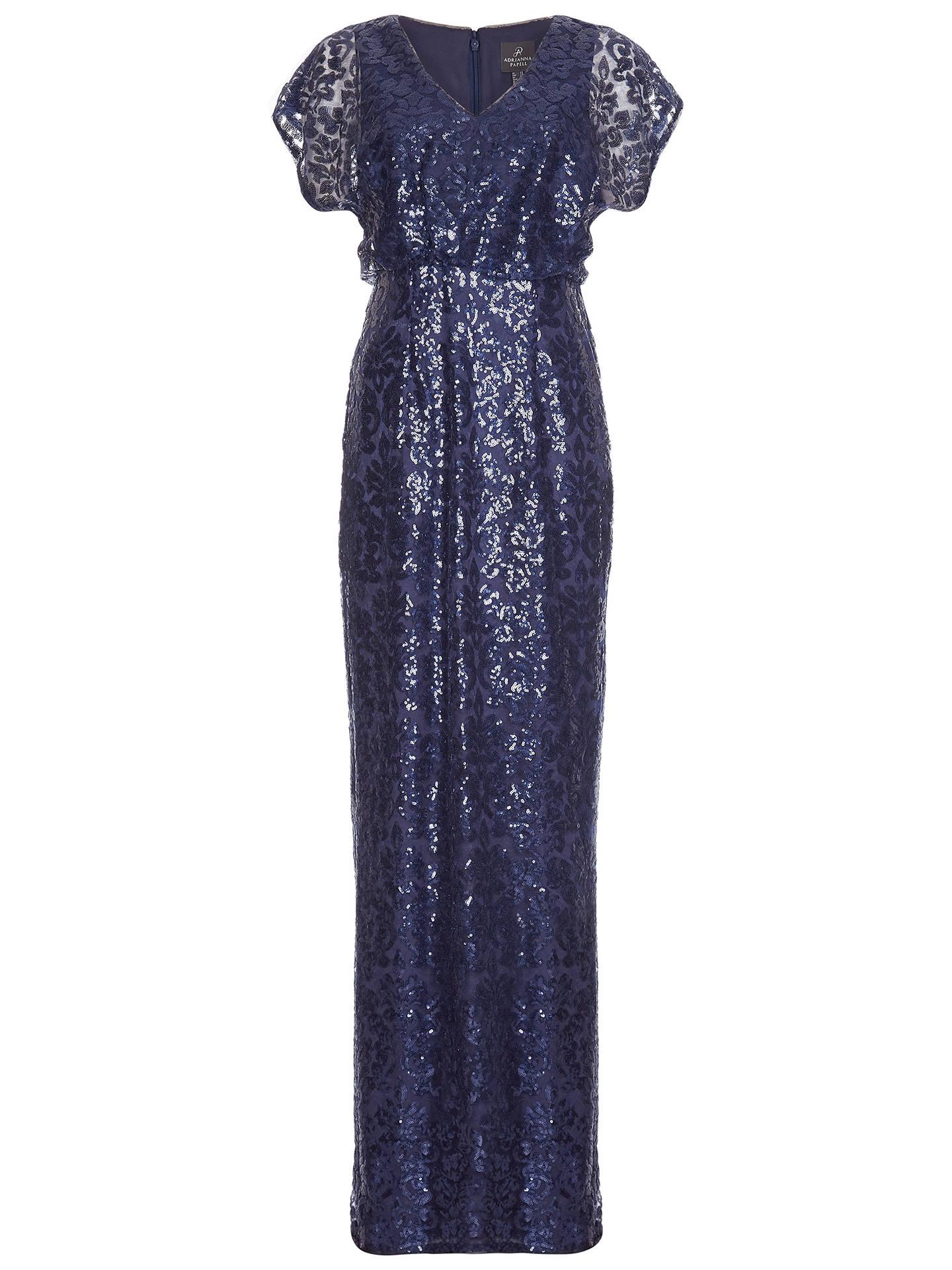 Adrianna Papell Women/'s Sequin Blouson Dress