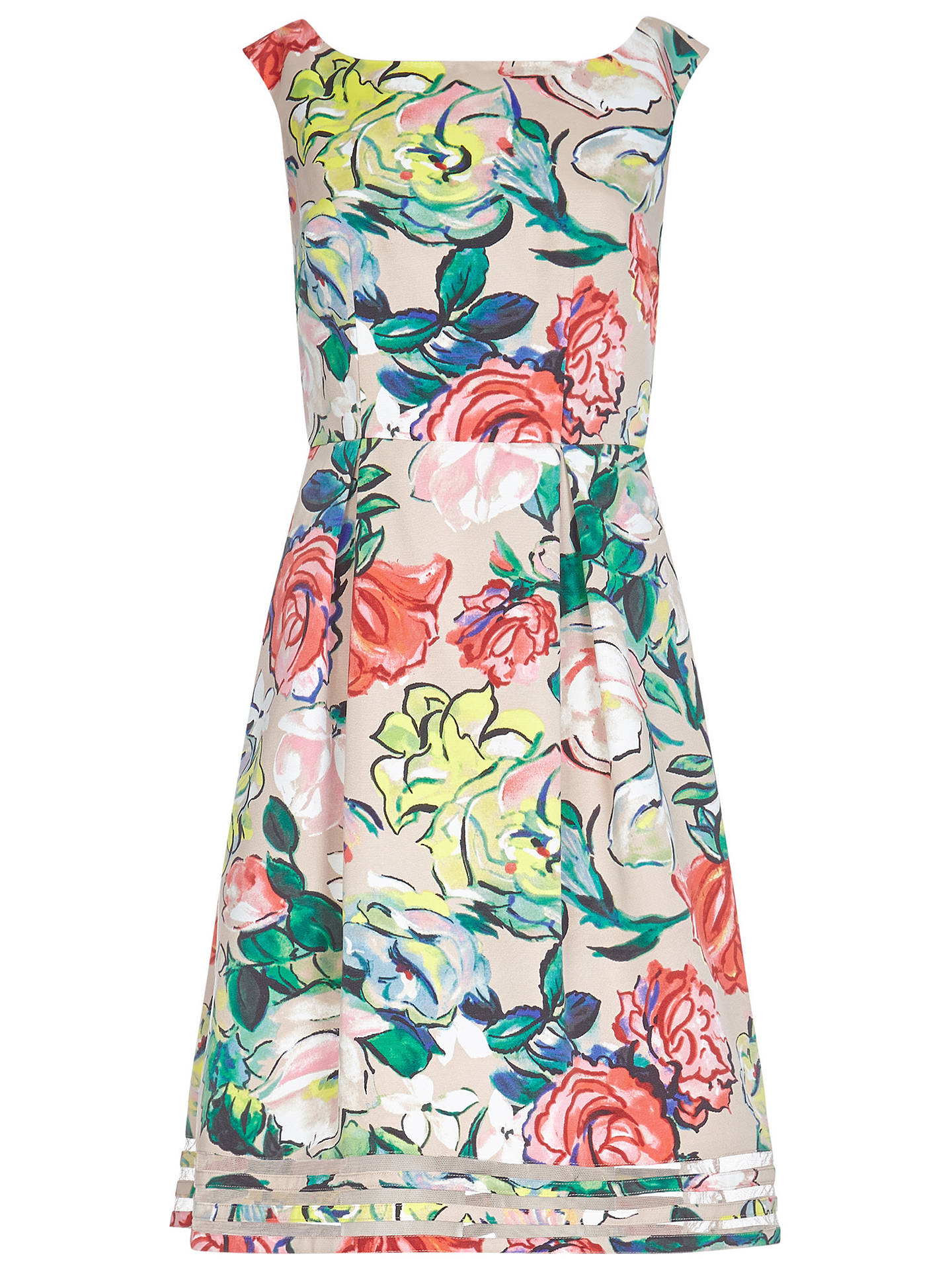 BuyAdrianna Papell Stained Glass Dress, Multi, 8 Online at johnlewis.com