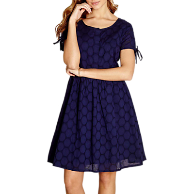 Yumi Broidery Lace Dress, Navy