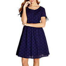 Buy Yumi Broidery Lace Dress, Navy Online at johnlewis.com