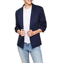 Buy Miss Selfridge Ruched Sleeve Blazer, Navy Online at johnlewis.com