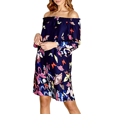 Yumi Bardot Butterfly Dress, Navy