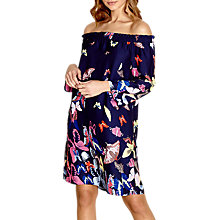 Buy Yumi Bardot Butterfly Dress, Navy Online at johnlewis.com