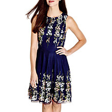 Buy Yumi Embroidered Floral Dress, Navy Online at johnlewis.com
