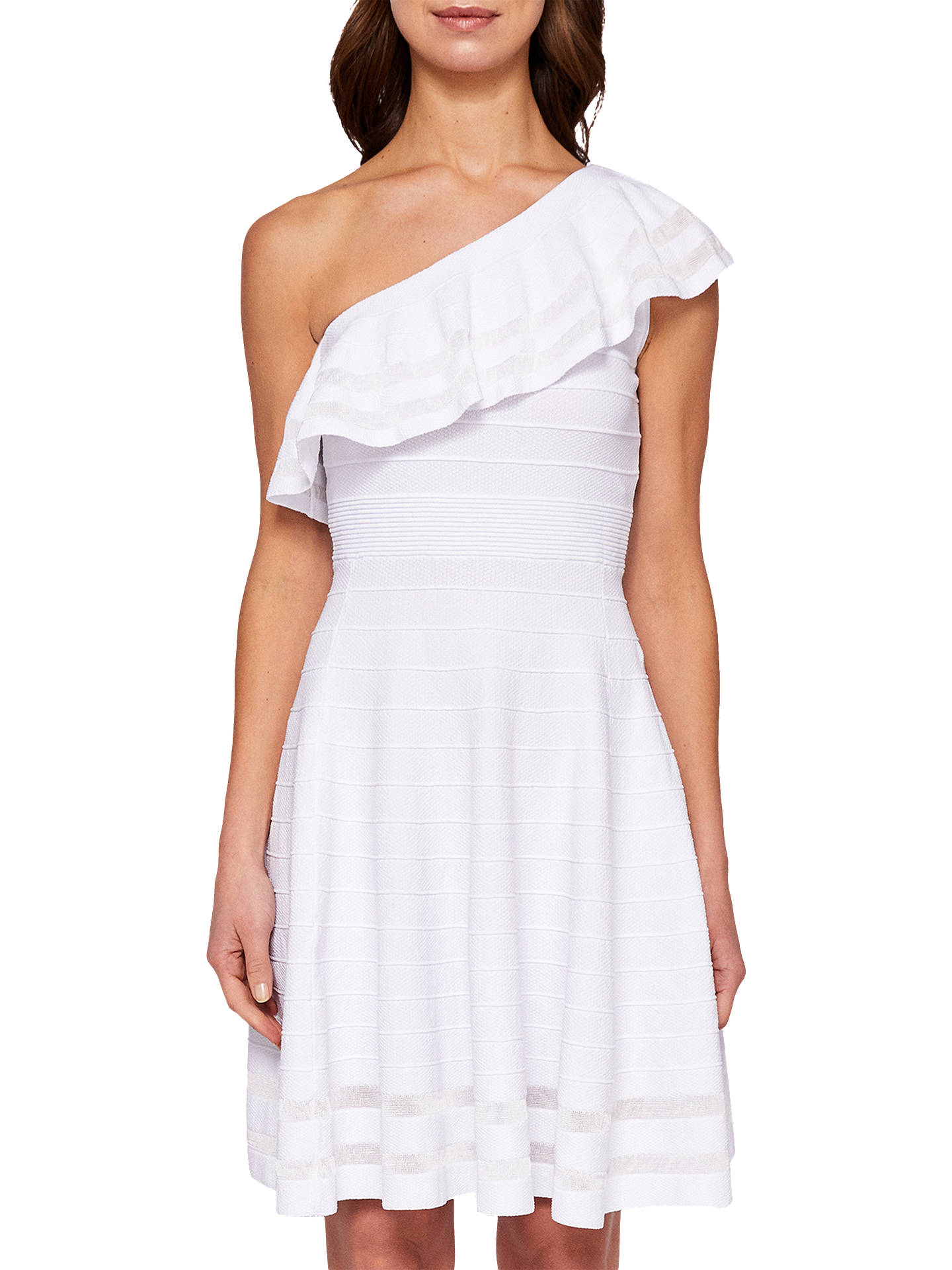 73dd04267f6fa4 Ted Baker Streena One Shoulder Knitted Dress at John Lewis   Partners