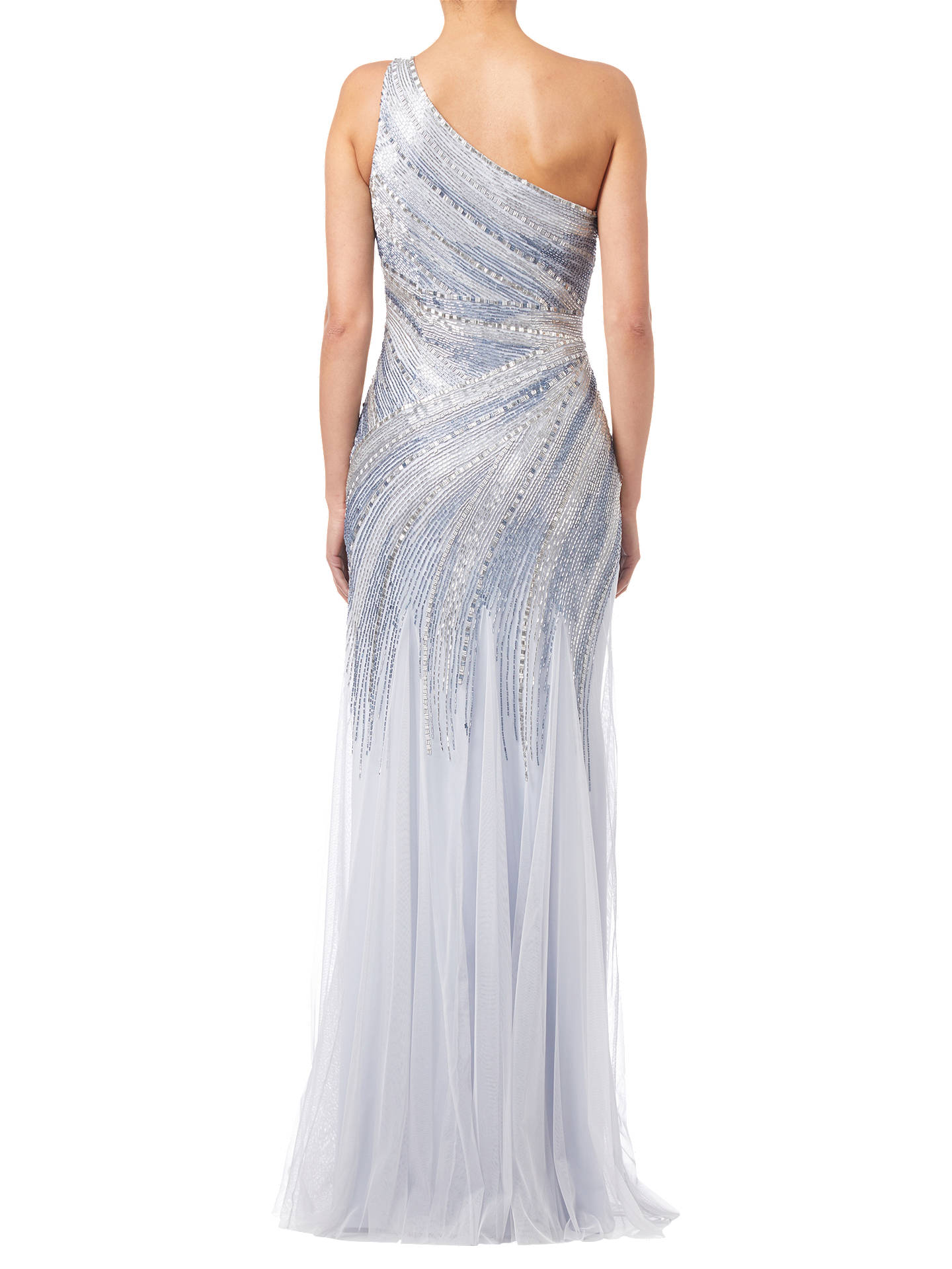 Buy Adrianna Papell Beaded Mermaid Gown, Serenity, 8 Online at johnlewis.com