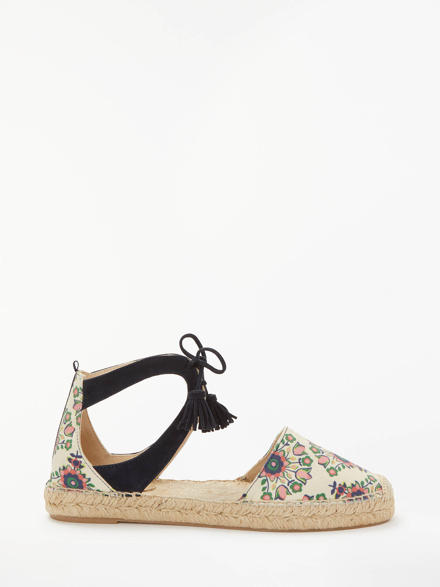 BuyBoden Candice Floral Espadrilles, Ivory/Multi, 7 Online at johnlewis.com