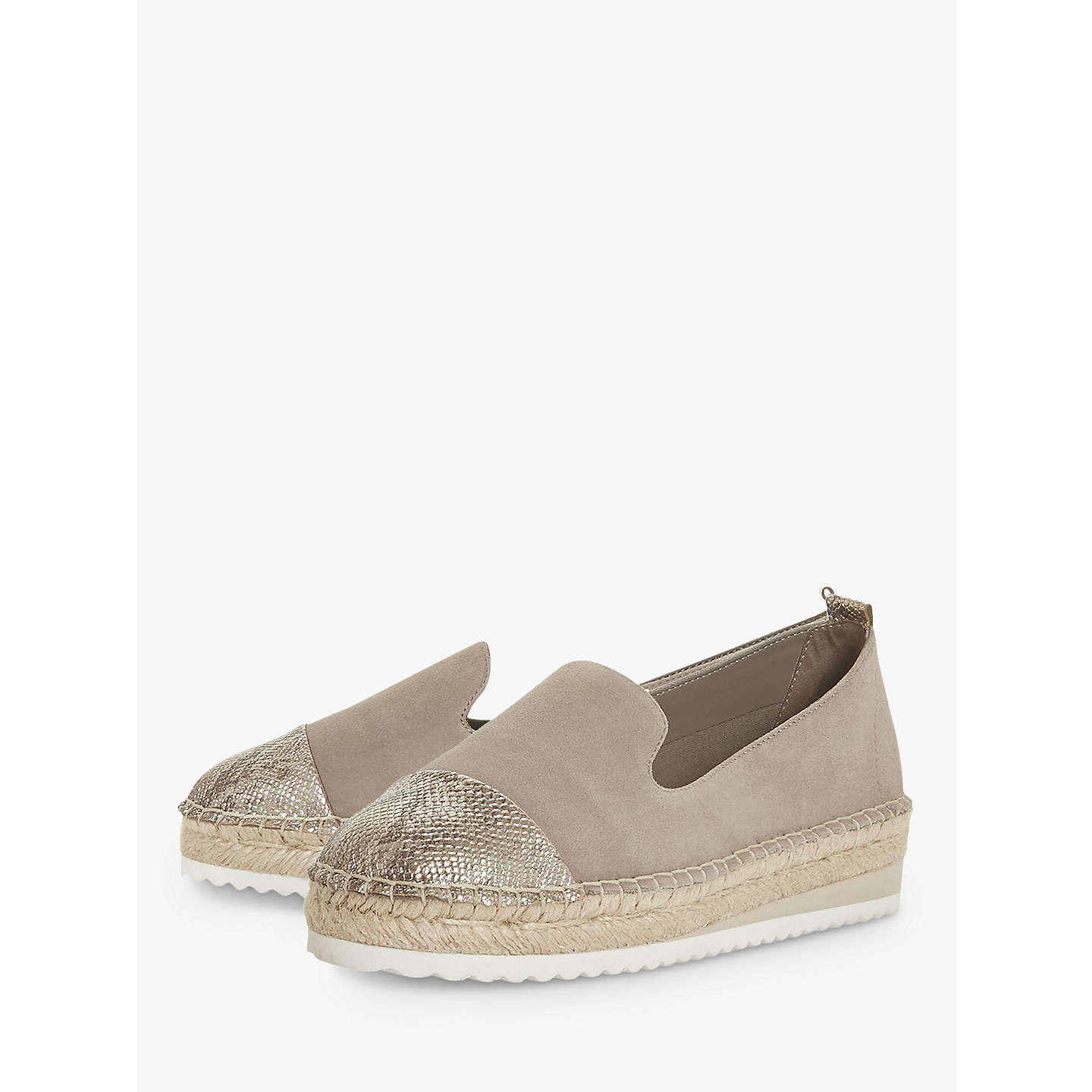 Clearance Store Online Dune Gavi Contrast Toe Espadrilles Free Shipping Professional Sast For Sale 4TGajY5n