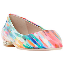 Buy Dune Baer Point Toe Ballet Pumps, Multi Online at johnlewis.com