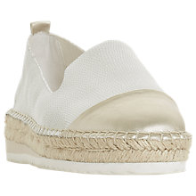 Buy Dune Gavi Espadrille Loafers, White Online at johnlewis.com