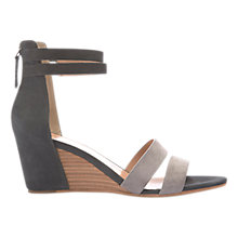 Buy Mint Velvet Iris Wedge Heel Sandals, Grey Online at johnlewis.com