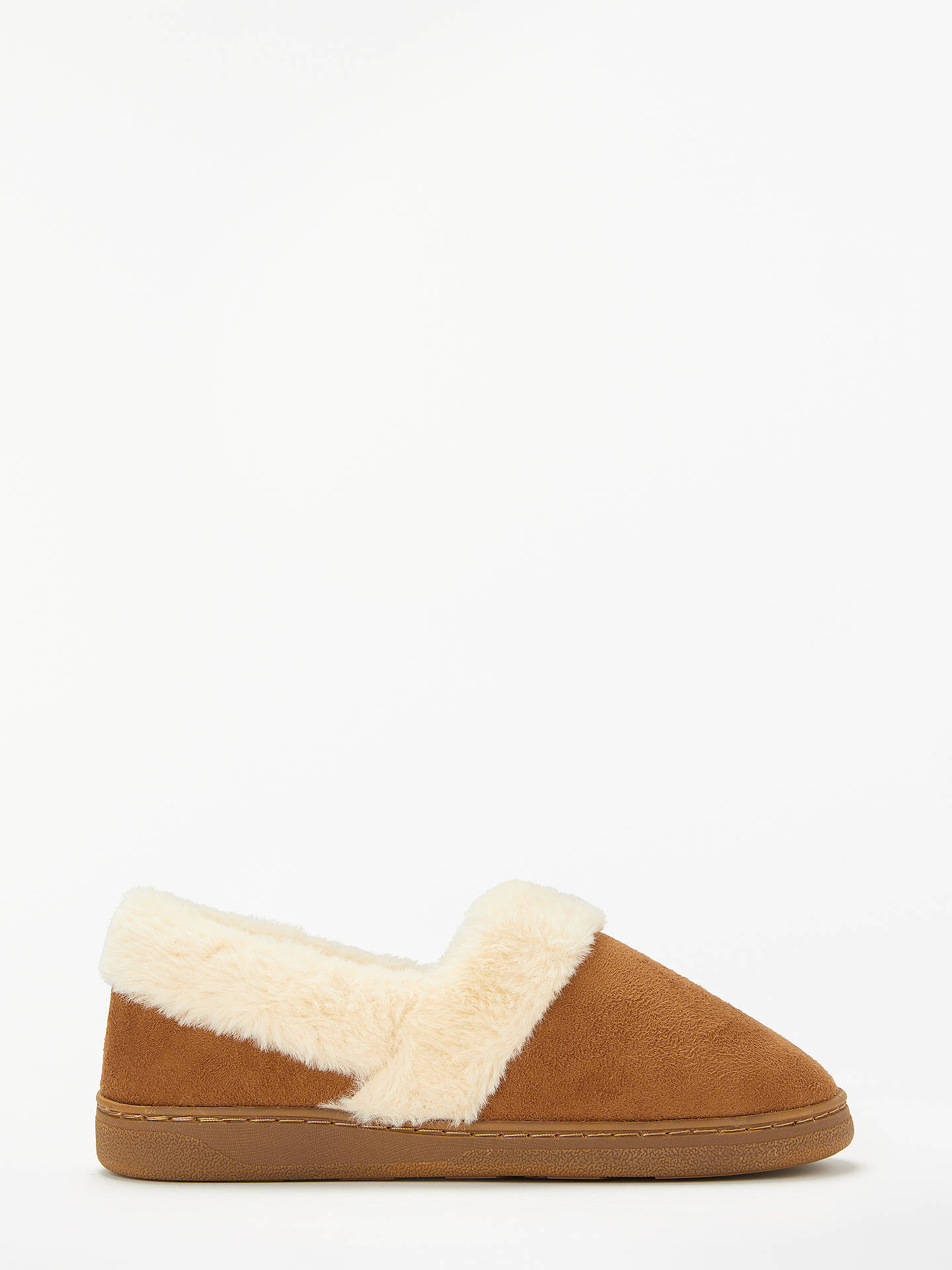 BuyJohn Lewis & Partners Comfort Cuff Boot Slippers, Chestnut, 3-4 Online at johnlewis.com