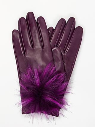8589d103303 John Lewis   Partners Large Pom Pom Lambskin Gloves