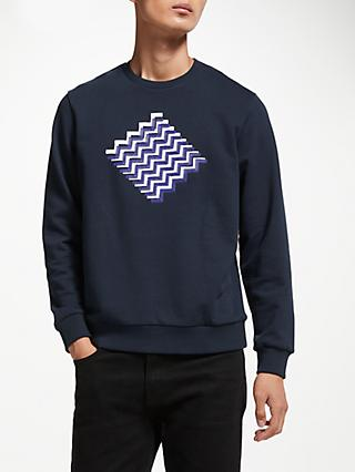 Kin Zigzag Cube Graphic Sweatshirt, Navy