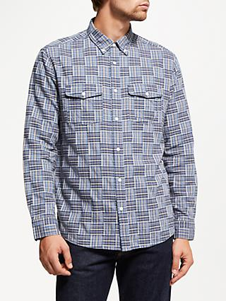 JOHN LEWIS & Co. Edo Patchwork Check Shirt, Blue