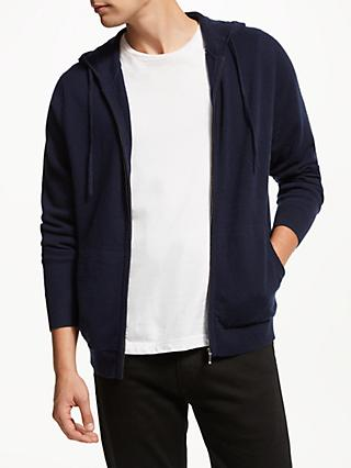 John Lewis & Partners Cashmere Zip Through Hoodie