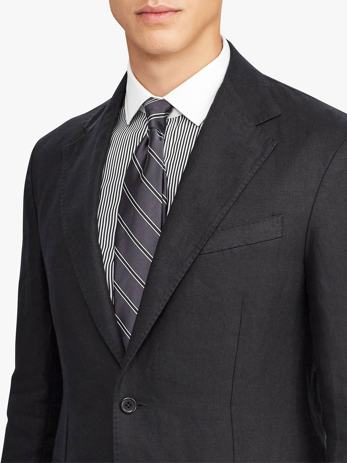 BuyPolo Ralph Lauren Linen Sports Coat, Black, 40R Online at johnlewis.com