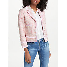 Buy Helene For Denim Wardrobe Ava Boxy Jacket, Pink Online at johnlewis.com