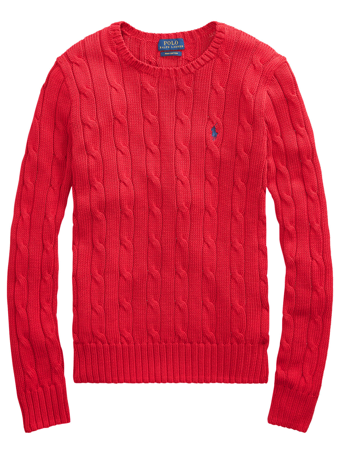 d2c70ad957dd Polo Ralph Lauren Julianna Cable Knit Cotton Jumper at John Lewis ...