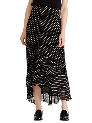 15724528ed Lauren Ralph Lauren Kya Square Dot Ruffle Skirt
