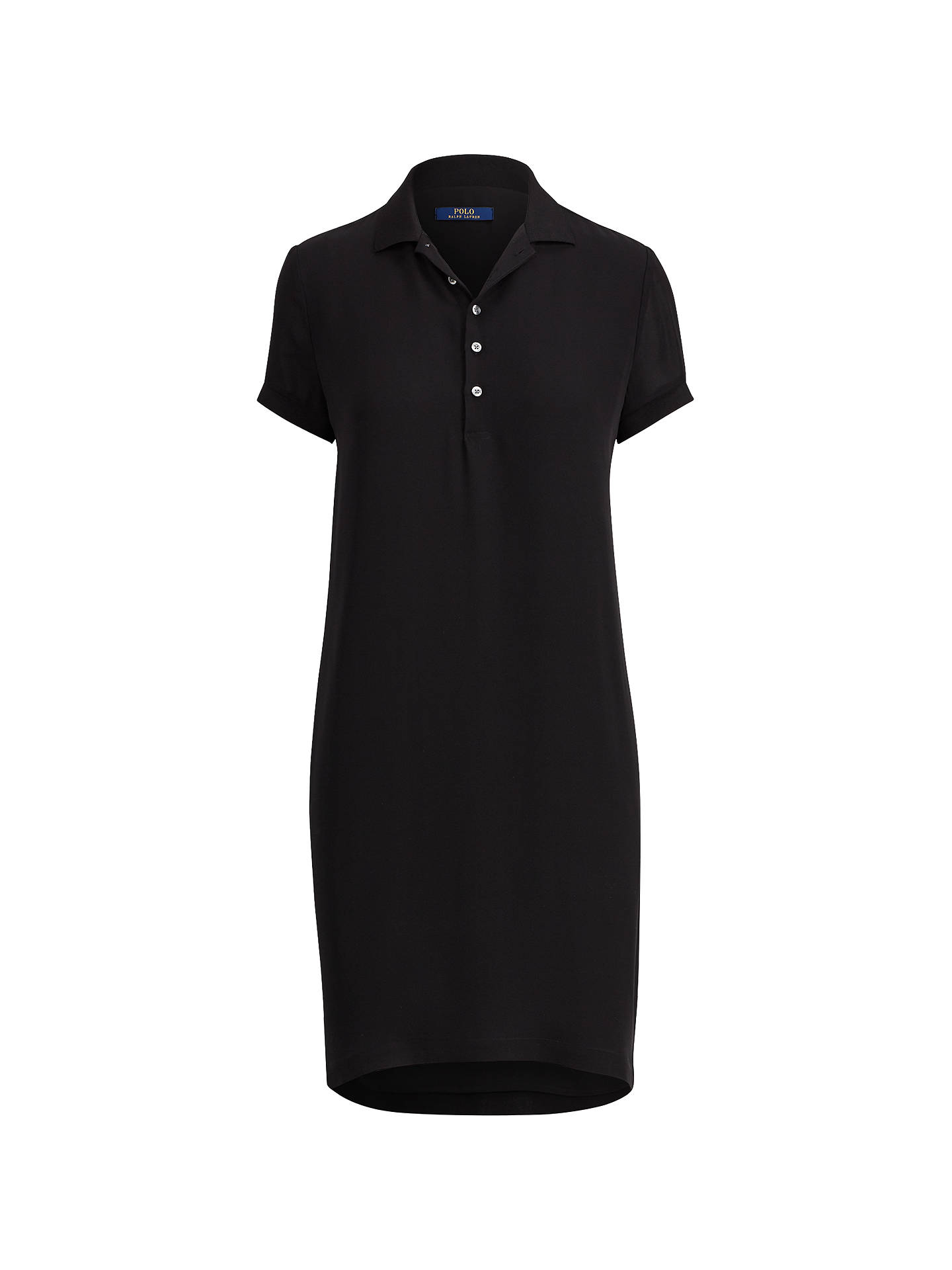BuyPolo Ralph Lauren Silk Georgette Polo Dress, Polo Black, 8 Online at johnlewis.com