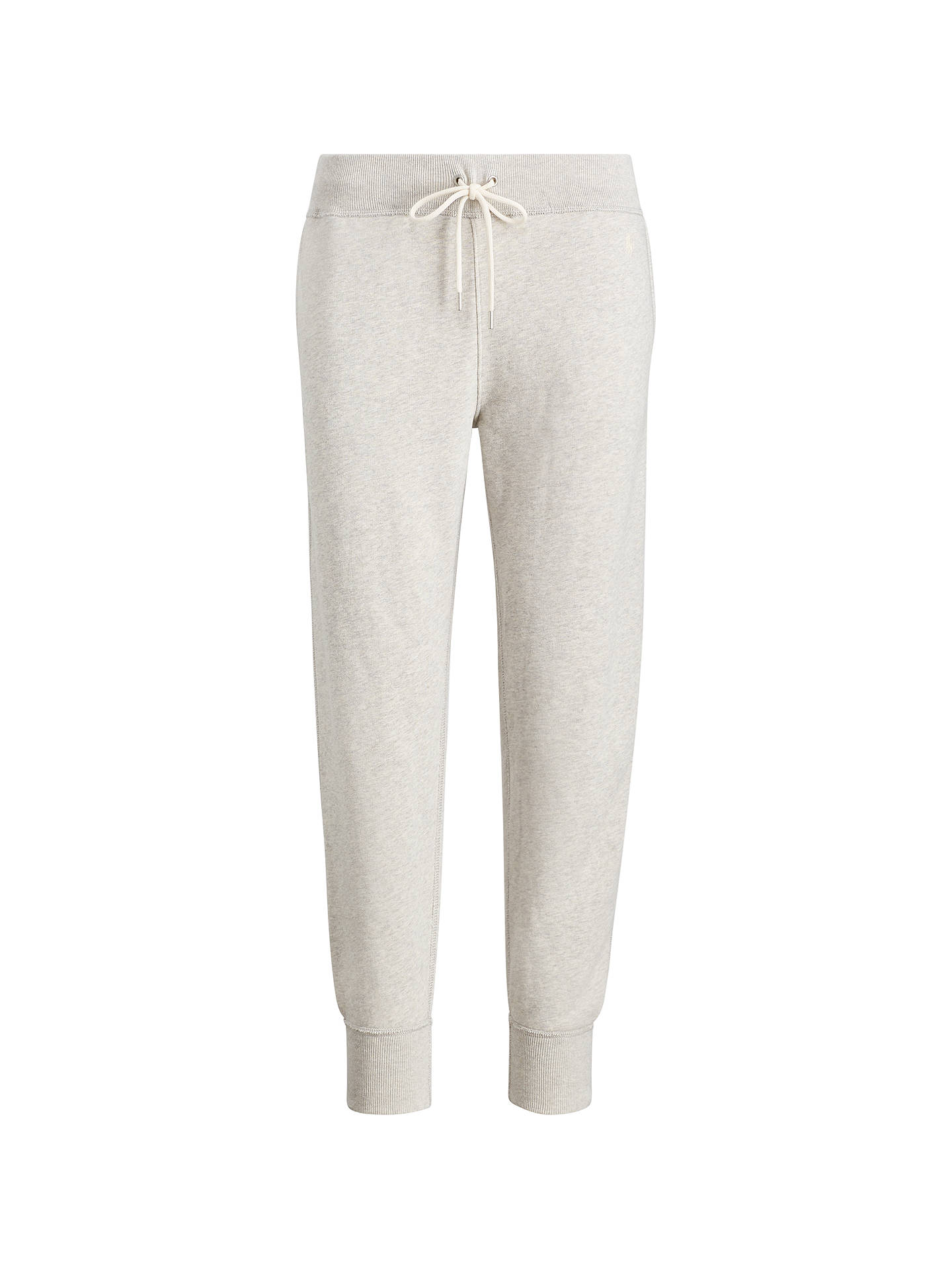 BuyPolo Ralph Lauren Fleece Jogger Bottoms, Light Sport Heather, XS Online at johnlewis.com