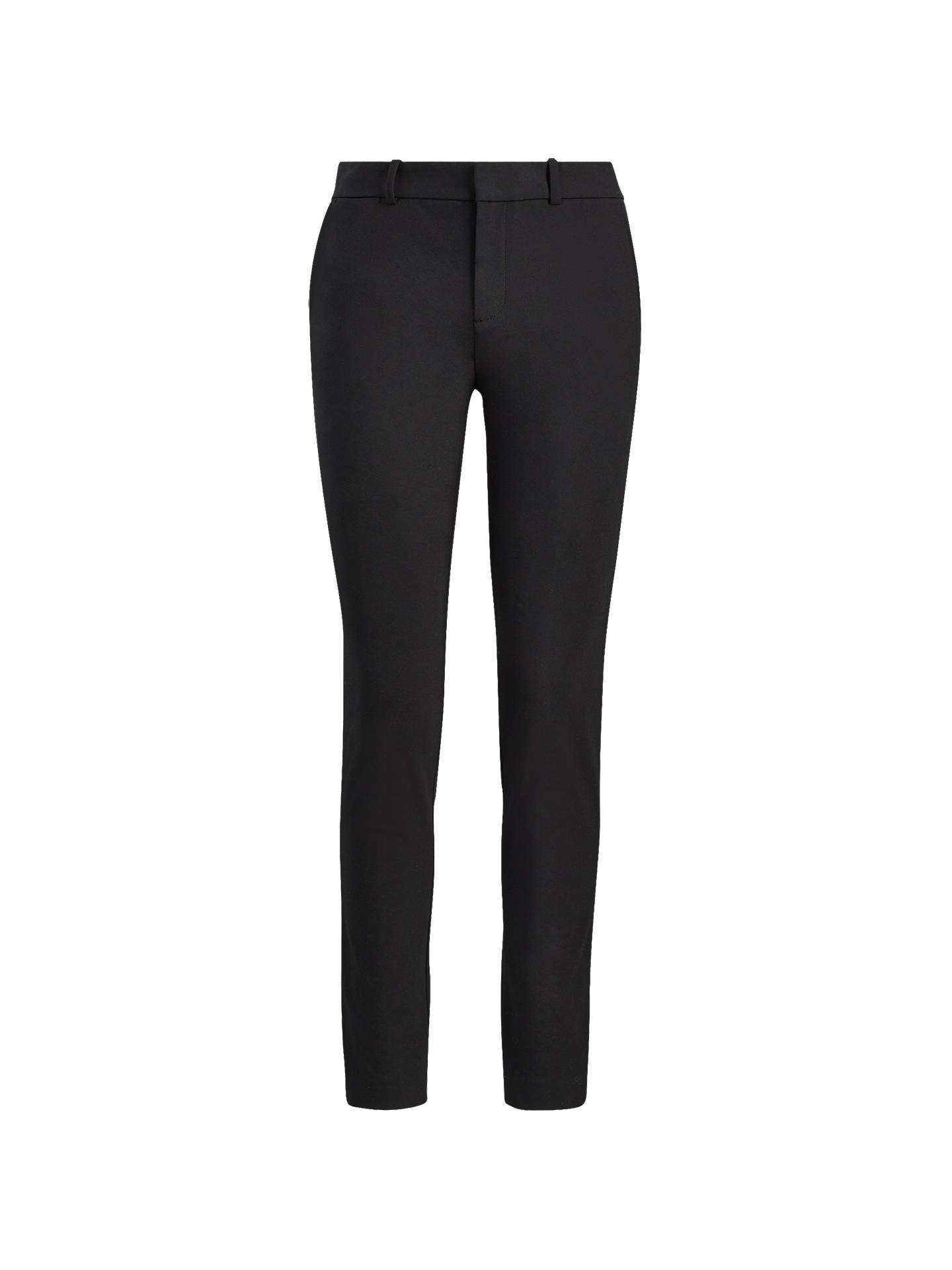 d99952467 Buy Polo Ralph Lauren High Rise Twill Straight Trousers, Polo Black, 8  Online at ...
