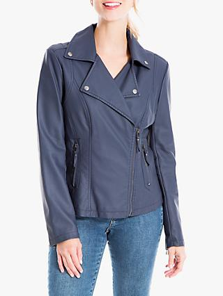 Max Studio Biker Jacket, Navy