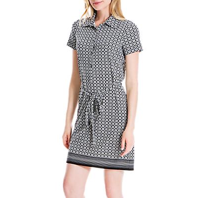 Max Studio Geo Print Shirt Dress, Black/Ivory