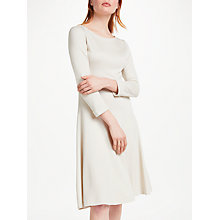 Buy Finery Faraday Long Sleeve Skater Dress, Beige Stone Online at johnlewis.com