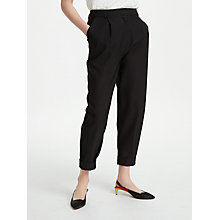 Buy Finery Loanda Peg Trousers, Black Online at johnlewis.com
