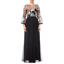 Buy Adrianna Papell Boat Neck Maxi Dress, Blush/Multi Online at johnlewis.com