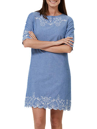 Buy Sugarhill Brighton Folk Embroidery Tunic Dress, Blue, 8 Online at johnlewis.com
