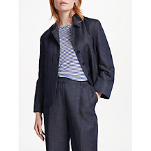 Buy Finery Miranda Weekend Blazer, Indigo Online at johnlewis.com