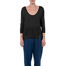 Buy French Connection Scoop Neck Jumper, Black Online at johnlewis.com